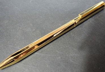 G8角ゴールドボールペン油性ボールペン