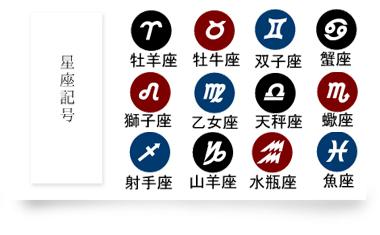 星座記号(12種類)