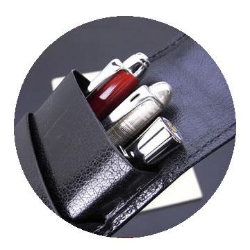 本革ペンケース シースの特徴1